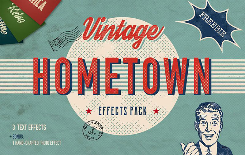 hometown-vintage-text-effect
