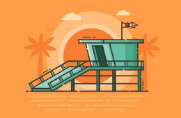 beach-gurad-tower-illustration