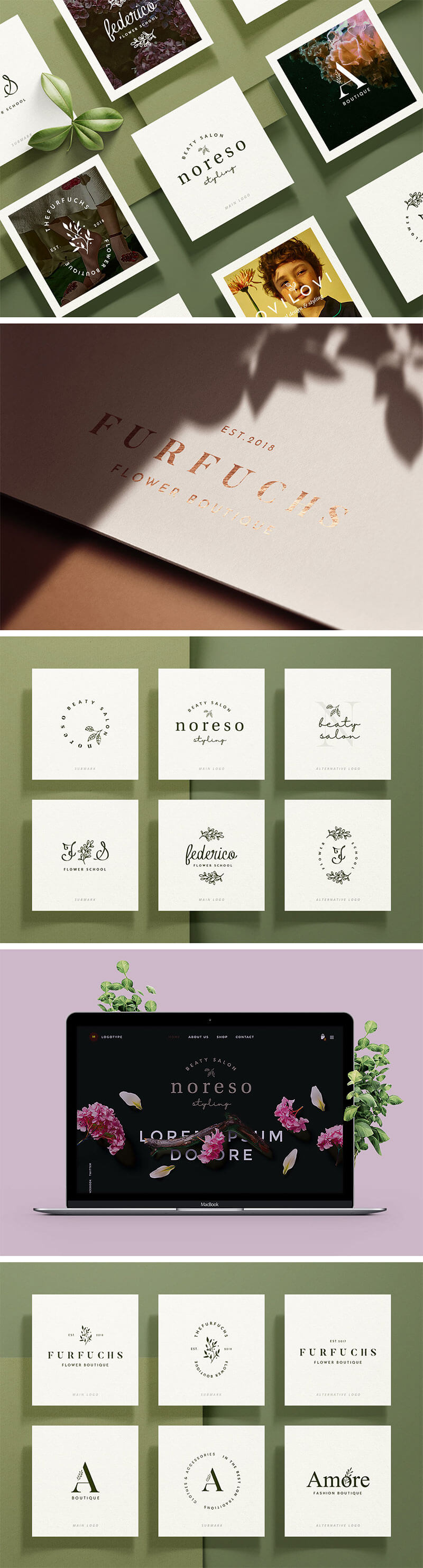 botanical-logo-template