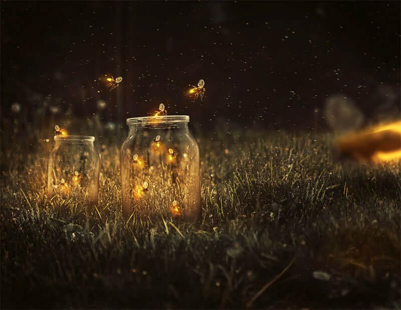glowing-fireflies-photo-manipulation
