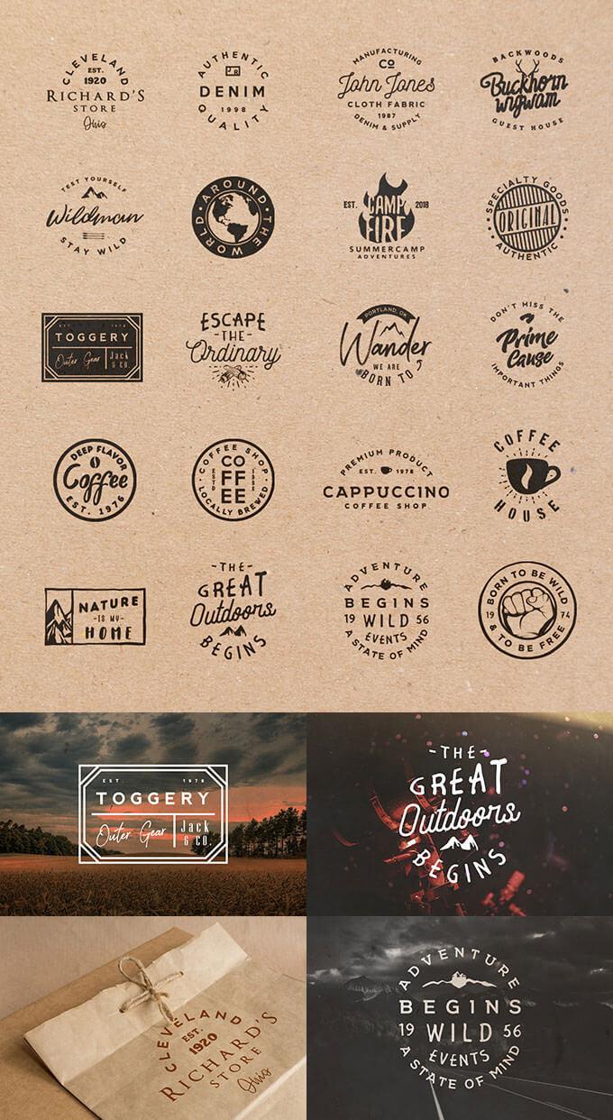 retro-badges-templates