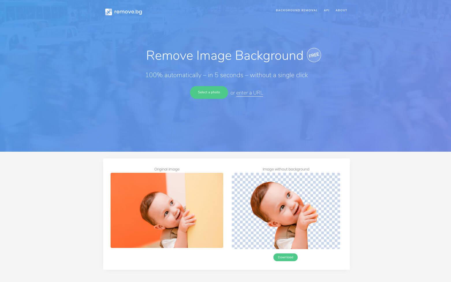 AIで完全自動!複雑な人物画像の切り抜きを5秒で行う無料オンラインサービス remove.bg