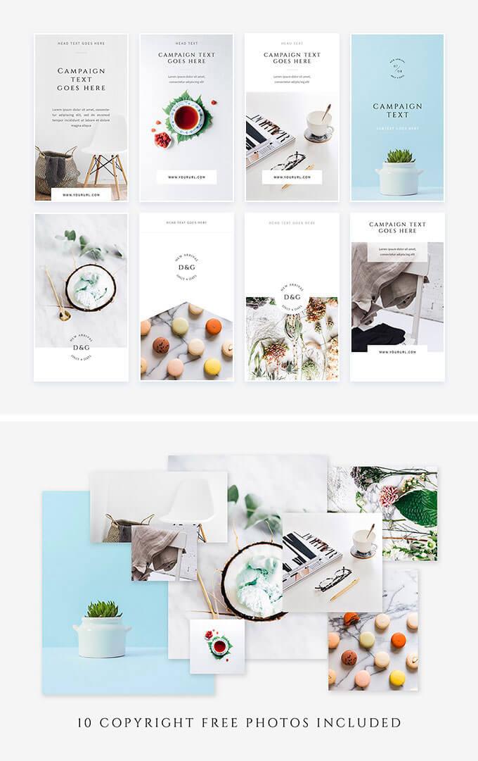white-instagram-stories-pack