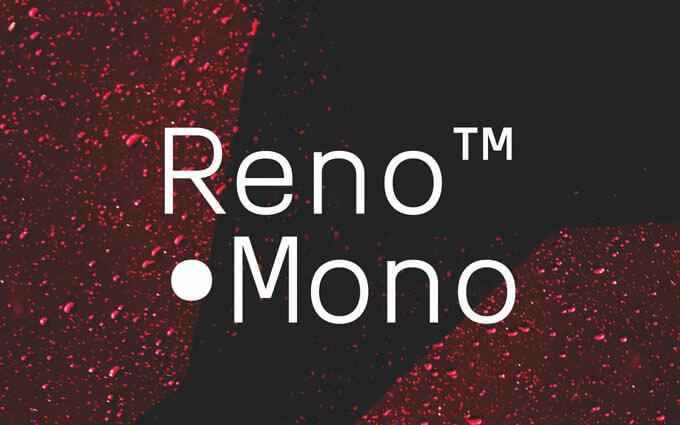 reno-mono-typeface