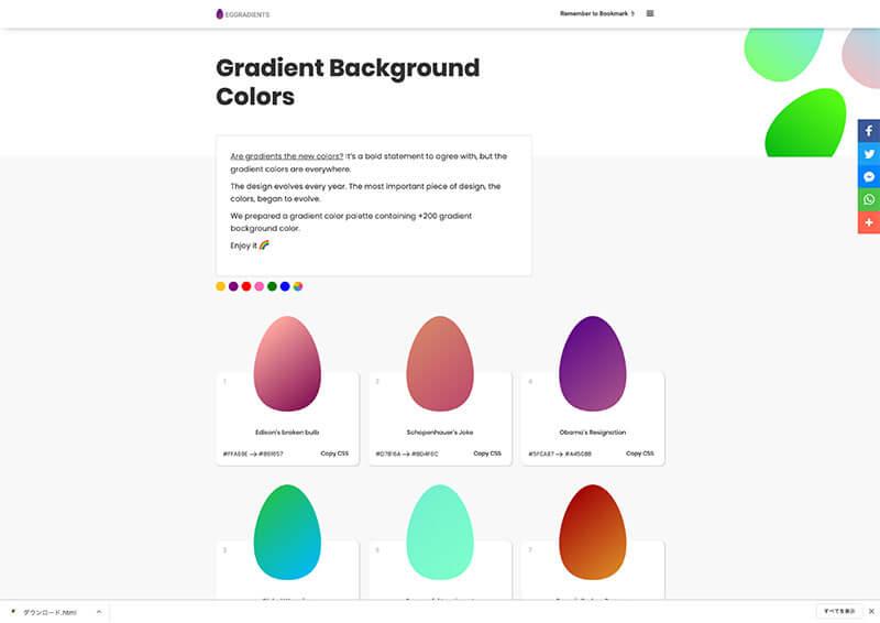 egg-gradients