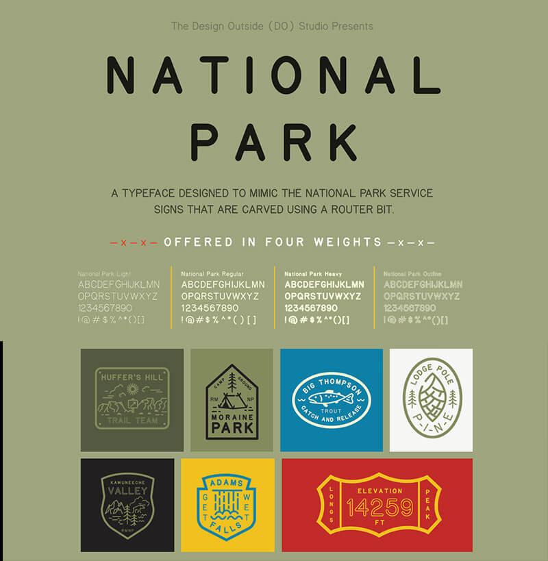national_park_typeface