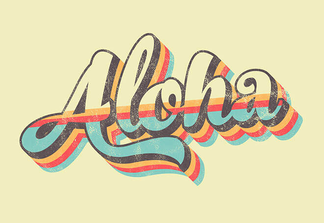 retro-aloha-striped-text-effect
