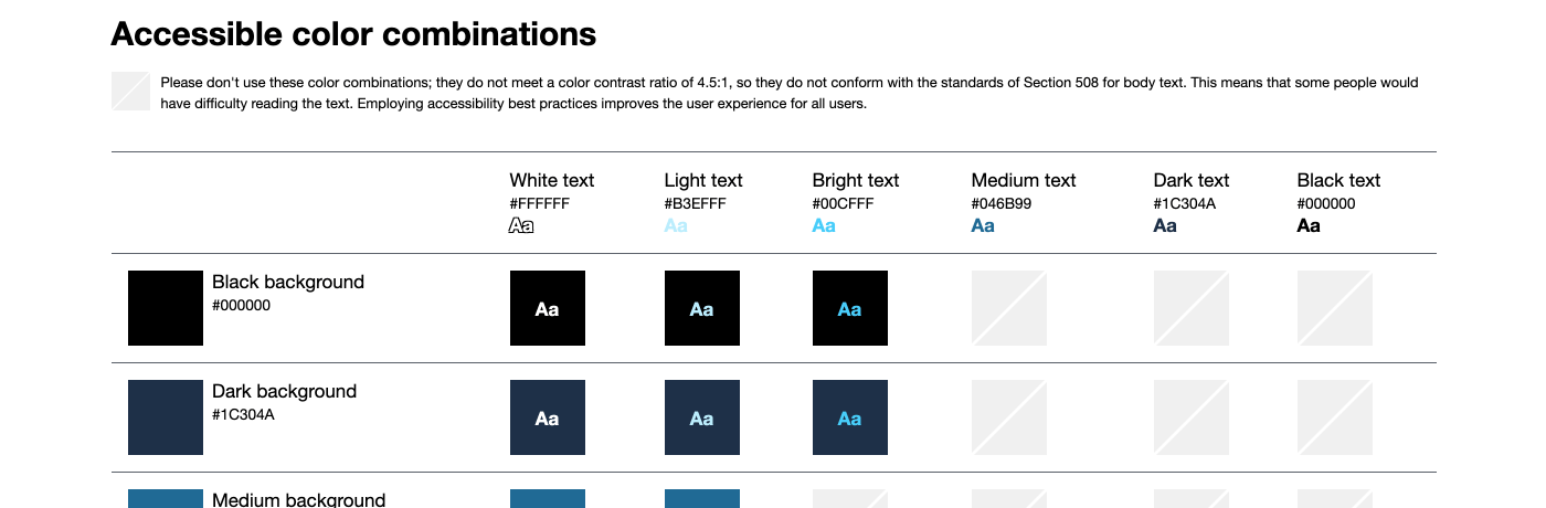 accessible-color-combinations