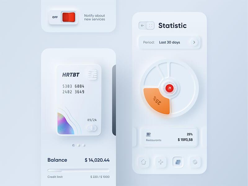 skeuomorph-mobile-banking