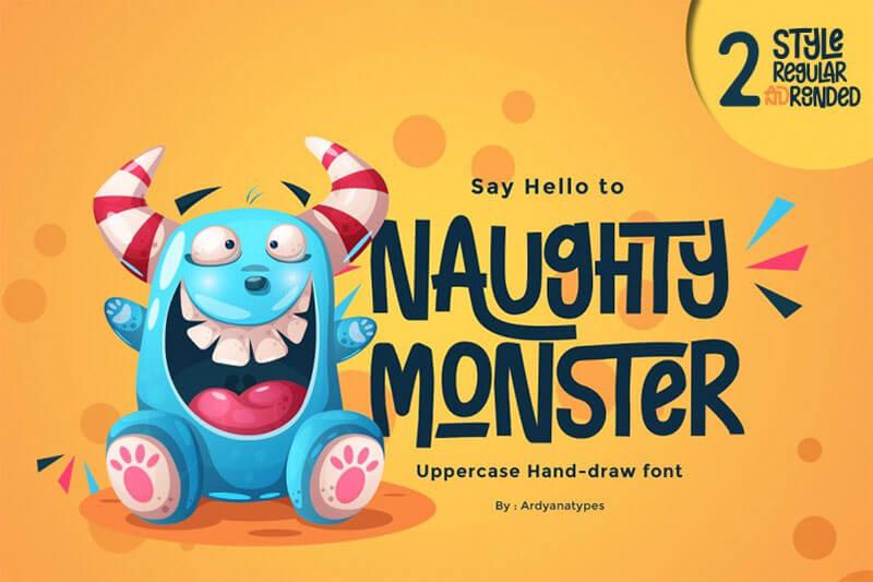 naughty-monster-display-font