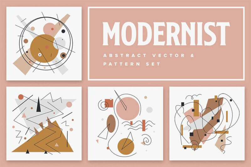 Modernist+Abstract+Vector+and+Pattern+Set