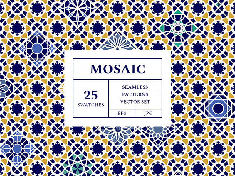 mosaic-patterns-vector-set