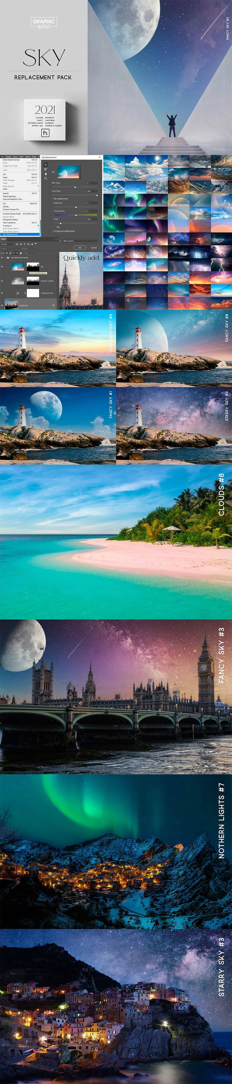 Sky-Replacement-Pack-2021-Photoshop-1