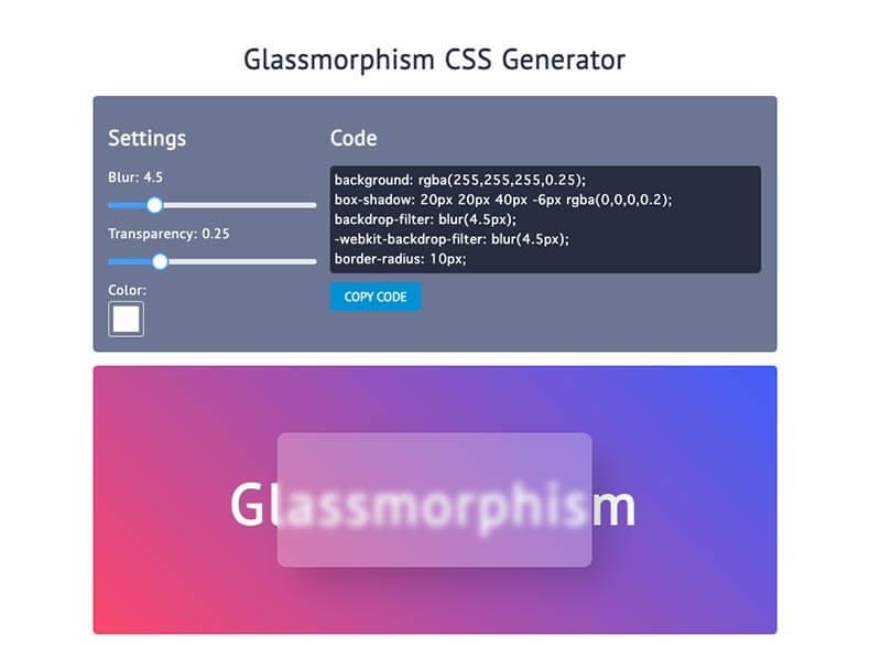 Glassmorphism_CSS_Generator_-_Marko_Denic_-_Web_Developer