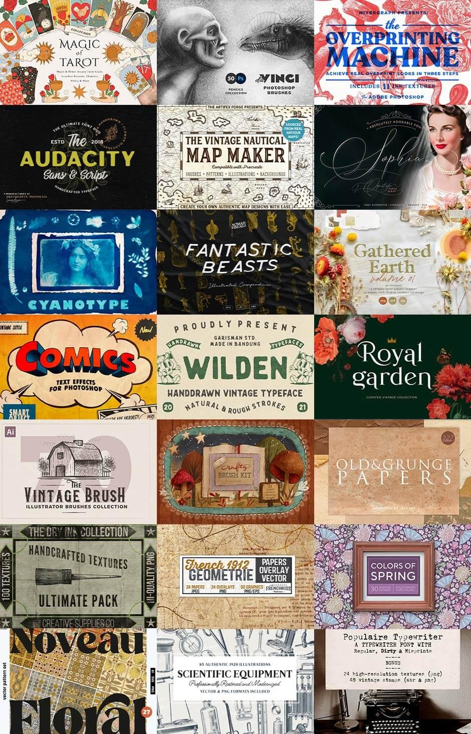 the-vintage-lovers-creative-arsenal-grid
