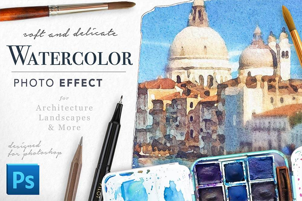 Soft-Watercolor-Photo-Effect-Kit-For-Photoshop-cover
